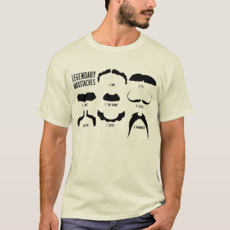 Legendary Moustache T Shirt