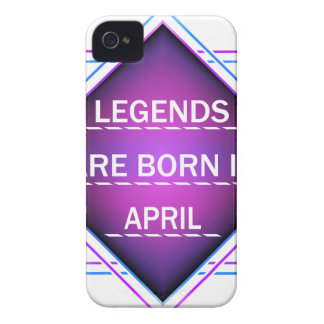 Legends are born in April iPhone 4 Cover