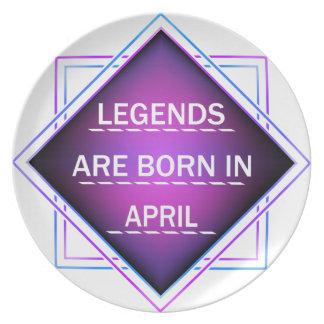 Legends are born in April Plate