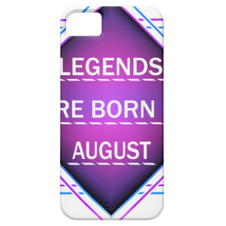 Legends are born in August Barely There iPhone 5 Case