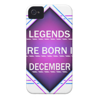 Legends are born in December iPhone 4 Cover