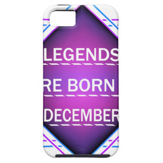 Legends are born in December iPhone 5 Case