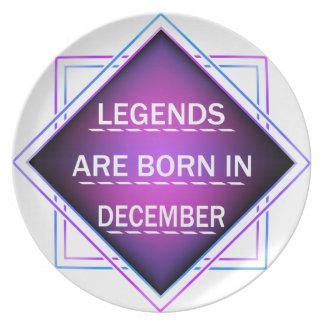 Legends are born in December Plate