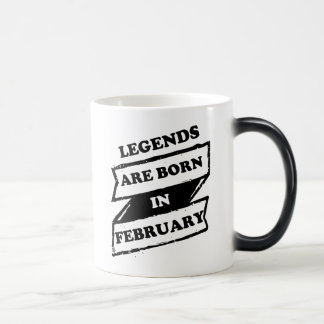 Legends are born in February Cool black and white Magic Mug