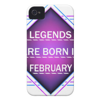 Legends are born in February iPhone 4 Case
