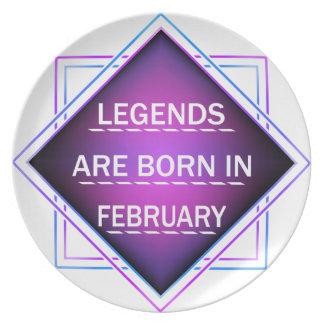Legends are born in February Plate