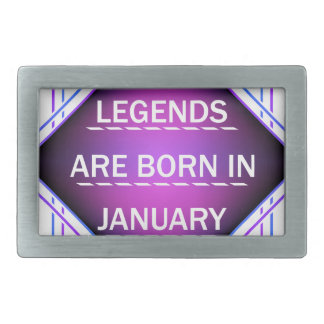 Legends are born in january belt buckle