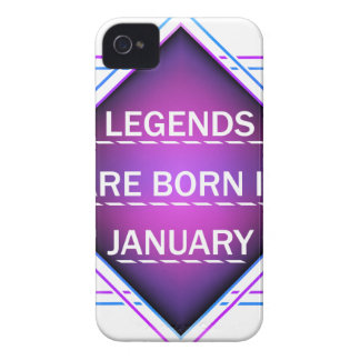 Legends are born in january Case-Mate iPhone 4 case