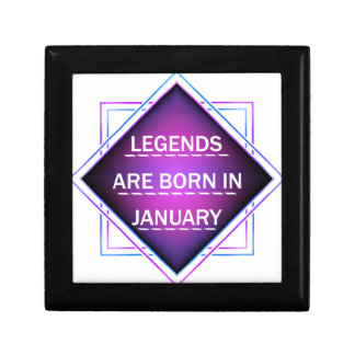 Legends are born in january gift box