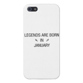 LEGENDS ARE BORN IN JANUARY - iPhone case Case For The iPhone 5