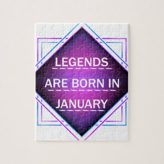 Legends are born in january jigsaw puzzle