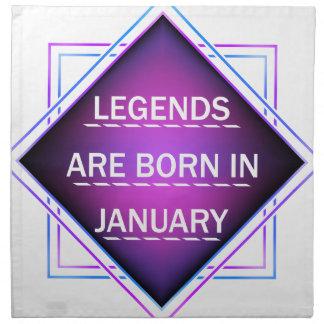 Legends are born in january napkin