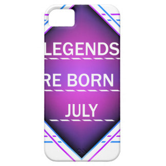 Legends are born in July iPhone 5 Case