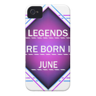 Legends are born in June iPhone 4 Cover