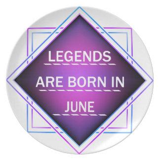 Legends are born in June Plate