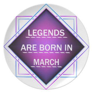 Legends are born in March Plate