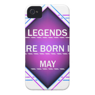 Legends are born in May iPhone 4 Case