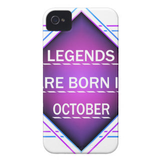 Legends are born in October iPhone 4 Cover
