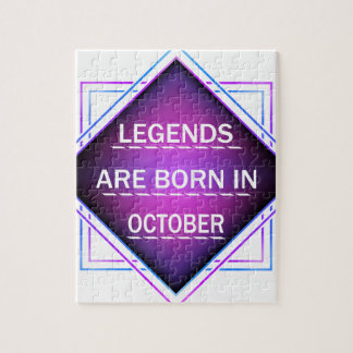 Legends are born in October Jigsaw Puzzle