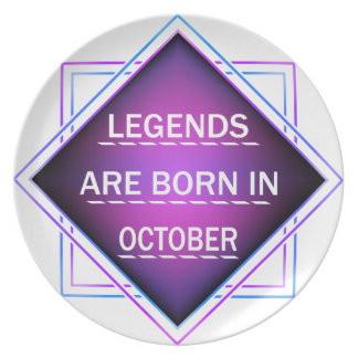 Legends are born in October Plate