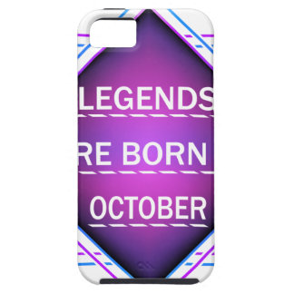 Legends are born in October Tough iPhone 5 Case