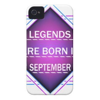 Legends are born in September iPhone 4 Case