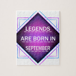 Legends are born in September Jigsaw Puzzle