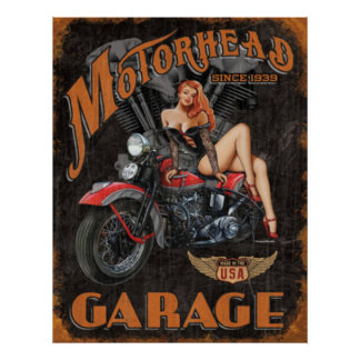 Legends - Motorhead Garage Poster