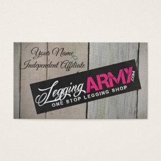 Legging Army business card