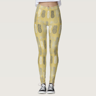 Legging Pattern Pineapple