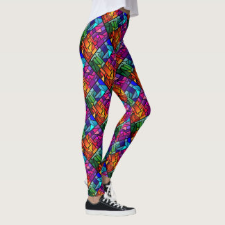 """Legging with """"Stained Glass"""" design"""