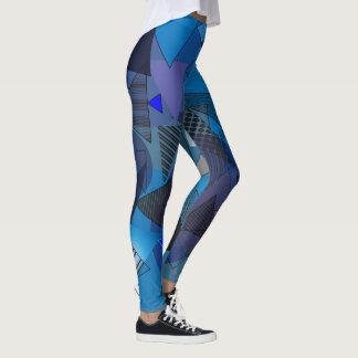 """Legging with """"Triangles Denim"""" design"""