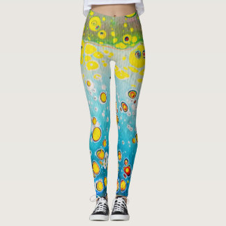 Leggings - Abstract Design - Coral Reef