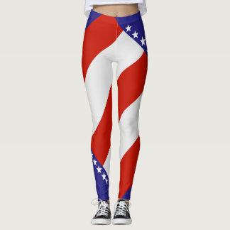 leggings-custom Colors of the American flag Leggings