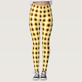 Leggings decorated with Sunflower Multiple Blooms