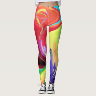 Leggings- designed, Abstract Art/ Happy colours Leggings