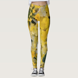 Leggings- Happy Yellow Blooms Leggings