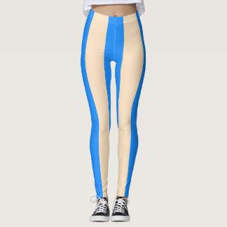 Leggings: Lemon Chiffon and Dodger Blue Leggings