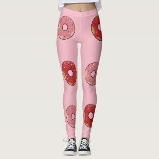 Leggings Red Donuts Pink/