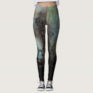 Leggings 'storm' painting by Jennifer Baumeister