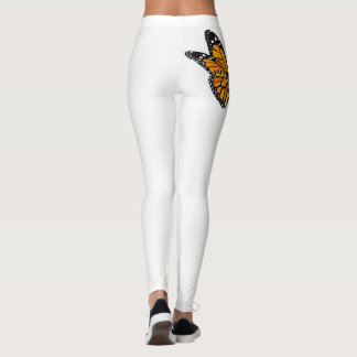 Leggings with Butterfly Flower Design