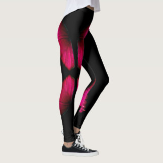 Leggings with printing of Wings of pink Butterfly
