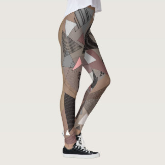 "Leggings with ""Triangles Sierra"" design"