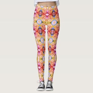 """leggings """"Yellow roses"""""""