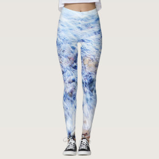Leggins cool blue water leggings