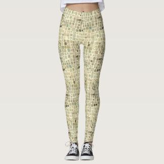leggins printing of square watercolor leggings