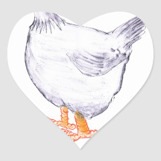 LEGHORN HEN, tony fernandes Heart Sticker