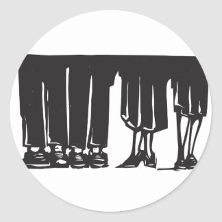 Legs at a Party Round Stickers
