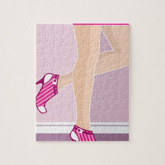 Legs in shoes vector jigsaw puzzle