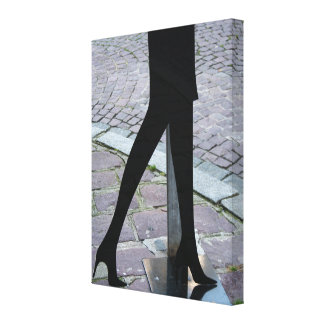 Legs Silhouette at the Corner Canvas Gallery Wrapped Canvas